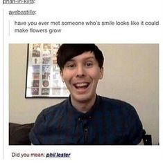 His smile makes flowers grow but his lack of watering kills his plants Phil Lester smile ❤ Phil Lester, Dan Howell, Phan Is Real, British Youtubers, Dan And Phill, Phil 3, Danisnotonfire And Amazingphil, Markiplier, In This World