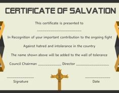free printable certificates of salvation