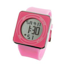 Multi-function Luminous Touch LCD Screen LED Watch - Pink