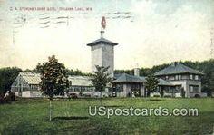 Delavan Lake, WI Post Card     ;     Delavan Lake, Wisconsin