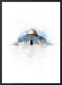Islamische Plakate – Islamische Kunst – Jerusalem - Rebel Without Applause Mecca Wallpaper, Islamic Wallpaper, Of Wallpaper, Mekka Islam, Palestine Art, Karbala Photography, Mosque Architecture, Islamic Posters, Islamic Paintings