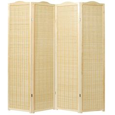 a3d582fe1db MyGift Deluxe Natural Woven Design Bamboo 4 Panel Folding Room  Divider Portable Privacy Screen