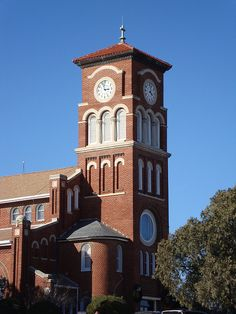 Saint Mary's Catholic Church Tower (Windthorst, Texas) by courthouselover, via Flickr