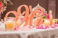 Wooden Mr & Mrs sign, painted in Peach color - beautiful addition to the wedding table! #wedding #sign #wood #elegant #rustic #beautiful #romantic