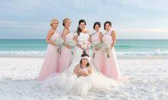 light pink bridesmaid dress destin
