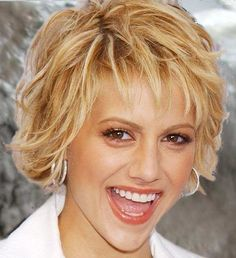 Brittany Murphy formal short hairstyle-89, blonde highlights, short wavy hair
