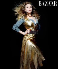 lagerfeld bazaar6 Karl Lagerfeld Shoots Scarlett Johansson, Dakota Fanning & More for Harpers Bazaar