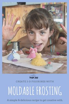 Create your own molding frosting: Ingredients: Food Coloring, Colouring, No Sugar Foods, Easy Delicious Recipes, Camping Crafts, Unsalted Butter, Consistency, Craft Activities, Mixer