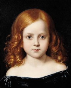 Portrait of the Artist's Daughter - Charles West Cope (English,1811-1890