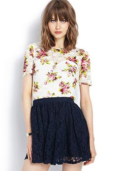 Floral Sweetheart Top | FOREVER21 - 2000071798