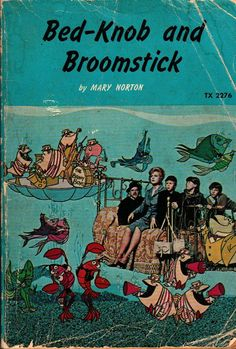 Bed-Knob and Broomstick - Mary Norton - Erik Blegvad - 1972 - Vintage Book