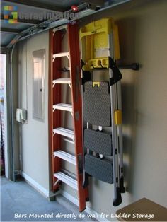 Ladder Storage for the shed