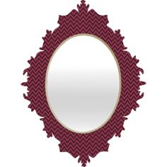 Mulberry Chevron Baroque Mirror | DENY Designs Home Accessories #denydesigns #mirror #apartment #home #dorm #office #living #midcentury