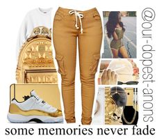 """Some Memories Never Fade"" by our-dopest-anons ❤ liked on Polyvore featuring MCM and Goldgenie"