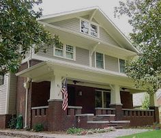 Craftsman style homes.  A smaller version would be perfect for me!  My favourite home style.