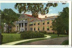 Memorial Hospital Piqua Ohio (gone now) Piqua Ohio, Ohio Attractions, Memorial Hospital, Ohio River, U.s. States, Memories, Mansions, Lancaster Ohio, History