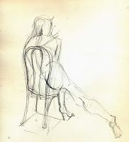 Nya Patrinos' Art and Yoga Journey: JB Drawings - Inspired by Toulouse Lautrec