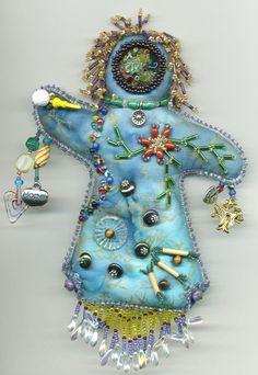 Beaded Spirit Dolls - Artwork by Beader and Enamelist Karen L. Cohen