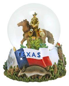 Great Globe of Texas Snow Globe   snowdomes.com