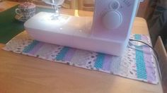 Sewing machine mat using free arm quilting :)