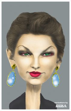 Caricature of Taylor Swift