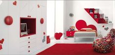 Colorful Bedroom Decorating Ideas and Pictures for Kids - http://freshome.com/2008/08/05/colorful-bedroom-decorating-ideas-and-pictures-for-kids/
