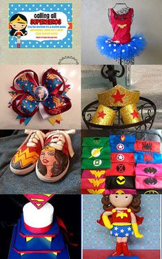 Wonder Woman Party --Pinned with TreasuryPin.com