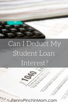"""It is tax time and as you sit down to prepare your taxes, make sure you include all deductions (which can be confusing itself). A common question I hear is """"Can I deduct my student loan interest?"""" Well, we've got the answer for you here!"""