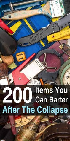 Even in temporary disasters cash could become rare or worthless if people are more interested in food and supplies. You'll need barter items. #urbansurvivalsite #barter #barteritems #collapse #shtf