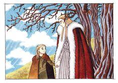 Thranduil and little Legolas by Teodora85.deviantart.com on @deviantART