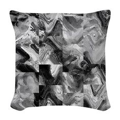 Awesome marble tiles Woven Throw Pillow