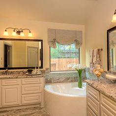 All #white #cabinets were seen in both the kitchen and master bath of this model home. We are sensing a new #trend!