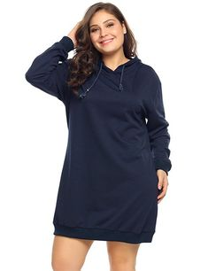 fa5526b5b8 Involand Women's Plus Size Long Sleeve Hooded Pullover Hoodie Casual  Sweatshirts (16~24W) at Amazon Women's Clothing store: