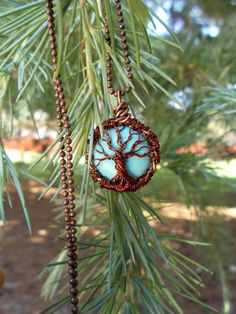 Turquoise tree of life in antique copper by XtraClaire on Etsy  https://www.etsy.com/es/listing/240433919/turquoise-tree-of-life-necklace-in