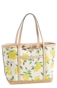 Nordstrom Half-Yearly Sale – 20 Top Picks @kate spade new york lemon print tote bag with bow detailing