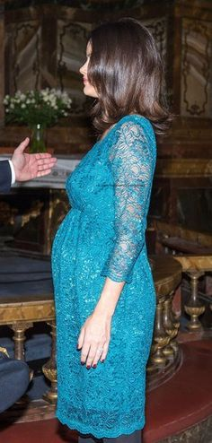 Princess Sofia and Prince Carl Philip attends Christmas concert.  Gosh she sure ballooned out in a hurry.  At the Nobel Prize ceremonies she didn't seem that big at all.  A few days later, she is big!