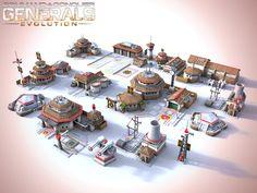 "ArtStation - CnC Generals Evolution China Buildings, soenke c. ""warby"" seidel"