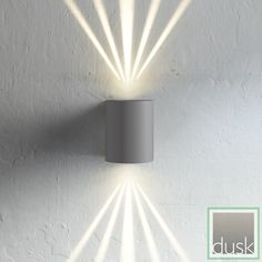 Nordlux Canto Grey LED Exterior Multiple Light Setting Wall Light | Exterior LED Lighting | Exterior Lighting | Dusk Lights - Modern Home Lighting