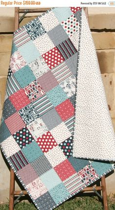RESERVED for Megan | Nursery, Boys and Babies : nautical patchwork quilt - Adamdwight.com