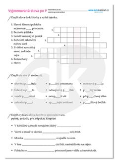 Vyjmenovaná slova po P   datakabinet.cz Periodic Table, Diagram, Map, Teaching, Words, Dyslexia, Periodic Table Chart, Periotic Table, Location Map