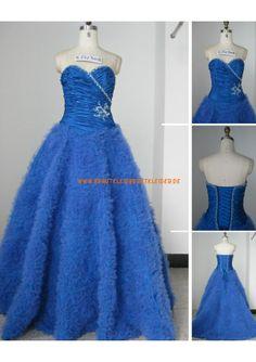 Romantisch Designe Extravagantes Brautkleid 2013 aus Softnetz mit Perlenstickerei