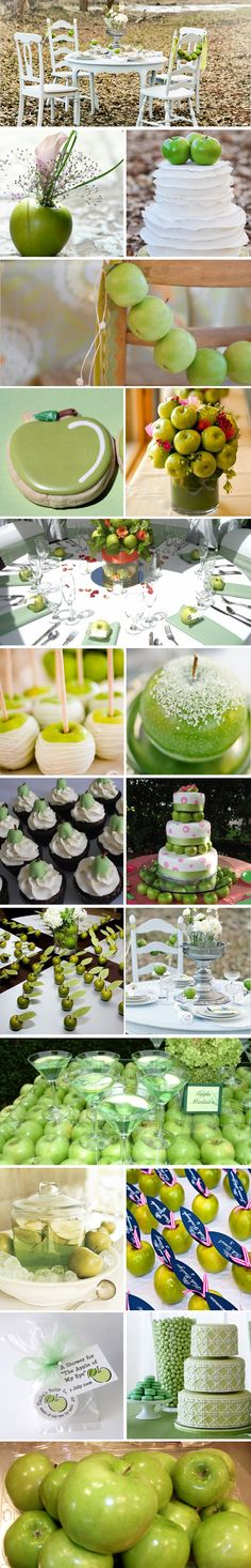 I know this is a wedding but I think these ideas would be so cute for a back to school party.