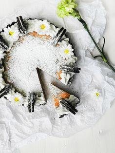 Bakelyst.no: Vegansk oreokake med peanøttsmør. Food, Essen, Meals, Yemek, Eten