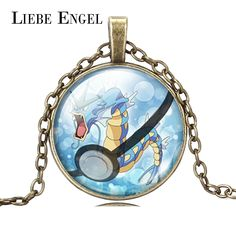 Find More Pendant Necklaces Information about LIEBE ENGEL Silver Bronze Color Chain Pokemon Necklace Pokeball Gyarados Glass Cabochon Pendant Necklace Fashion Jewelry Unisex,High Quality necklace knot,China jewelry promotion Suppliers, Cheap necklace jewelry case from LIEBE ENGEL Official Store on Aliexpress.com