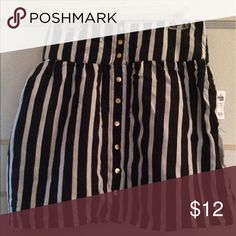 Selling this Charlotte Russe Pinstripe skirt with pockets on Poshmark! My username is: afroqueen904. #shopmycloset #poshmark #fashion #shopping #style #forsale #Charlotte Russe #Dresses & Skirts