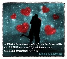 Pisces woman aries man sexually