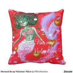 Mermaid Be my Valentine  Pillow