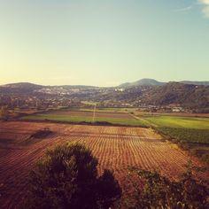La bellissima vista dalla nostra terrazza panoramica.