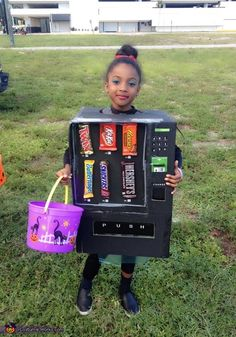 Shari: My daughter is wearing the vending machine costume, We happen to be at Walmart and out of the blue she just turned to me and said Mommy wouldn't it be...