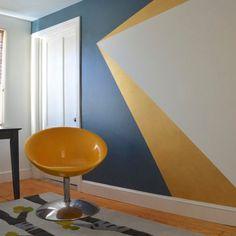 30 Paredes com pinturas geométricas para você se inspirar | chataspradecorar.com.br Mais